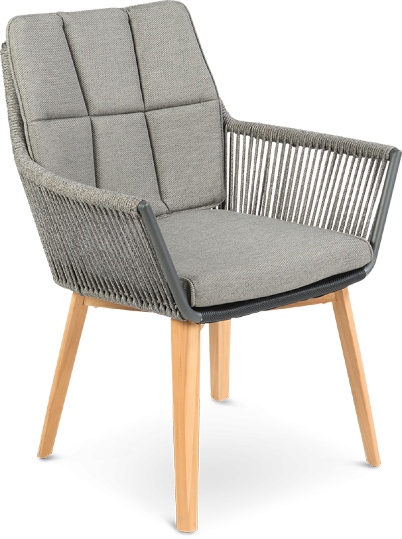 Lois Rope chair with Teak Legs